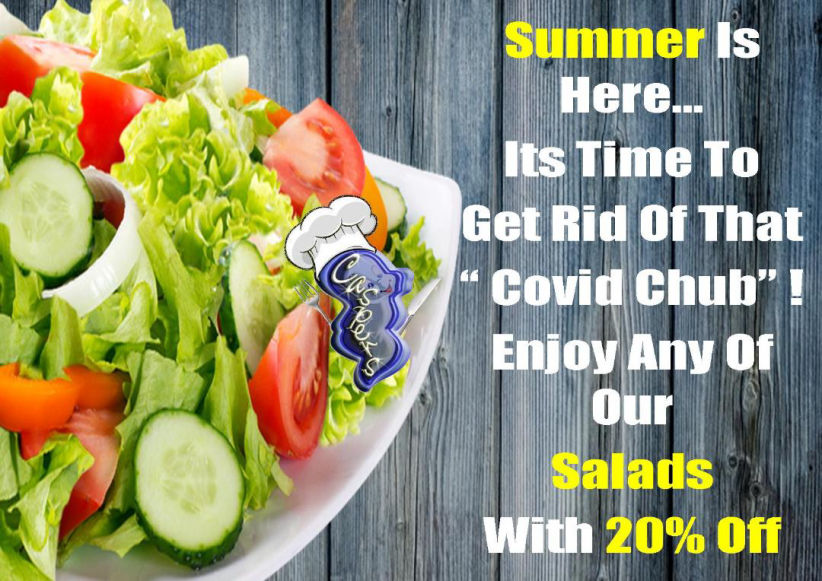 Only at Casper´s Benidorm: Discount Summer Salads with 20% OFF